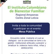 image for MESA PÚBLICA - CENTRO ZONAL LETICIA