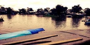 A orillas del rio Amazonas
