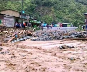 Rio por lluvias desvordado