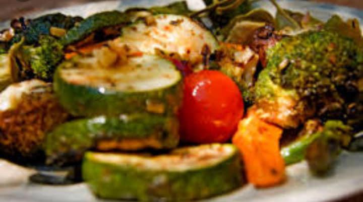 Palto de comida vegetariana
